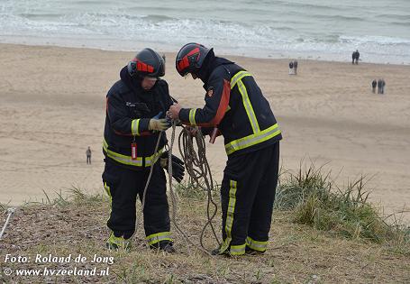 reddingsteam werken op hoogte